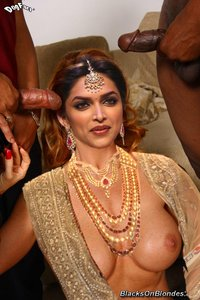 Deepika Padukone Nude Giving Blowjob to Black Dick [